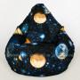 Кресло Мега Космос Жаккард (ткань светится в темноте)