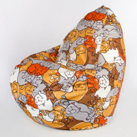 Кресло-капля Симпл Кошки 01 Рогожка