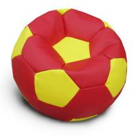 Кресло мяч. Иск. кожа красно-желтый