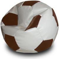 Кресло мяч. Иск. кожа бело-коричневый