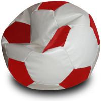 Кресло мяч. Иск. кожа бело-красный