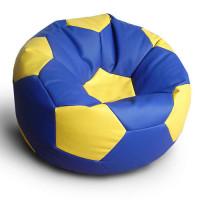 Кресло мяч. Иск. кожа сине-желтый