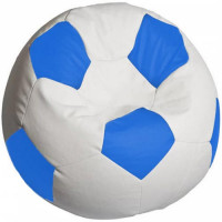 Кресло мяч. Оксфорд бело-синий