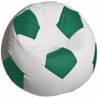 Кресло мяч. Оксфорд бело-зеленый