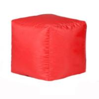 Пуф-куб Оксфорд красный
