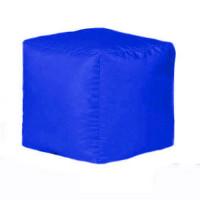 Пуф-куб Оксфорд синий
