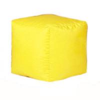 Пуф-куб Оксфорд желтый