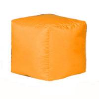 Пуф-куб Оксфорд оранжевый