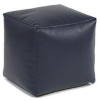 Пуф-куб Черный Иск. кожа