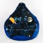 Кресло МАХ Космос Синий (ткань светится в темноте)