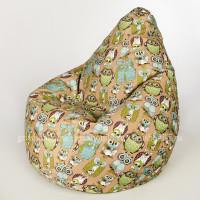 Кресло МАХ Совы зеленый цвет. Микровелюр