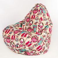 Кресло-капля Совы Розовые Велюр