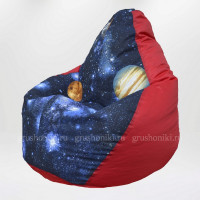Кресло МАХ Космос Красный (ткань светится в темноте)