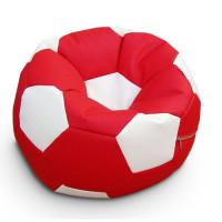 Кресло мяч. Иск. кожа красно-белый