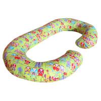Подушка Relax С-образная Совы Зеленый цв. (Бязь)